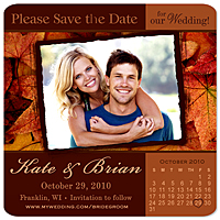 save the date magnets autumn fall