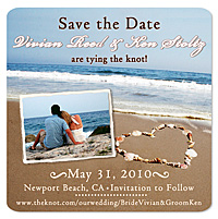 Beach Shells Photo Save the Date Magnet