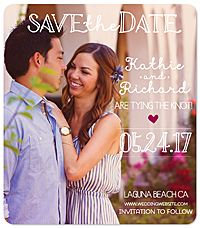 """Just the Two of Us"" Save the Date Magnet"