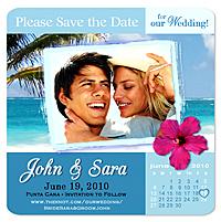 Tropical Beach Save The Date Magnets Separator Photo Calendar