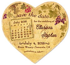 Vineyard Calendar Heart