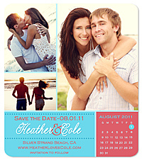 """Two-Tone Collage"" Save the Date Card"