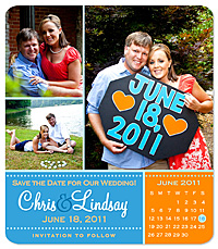 """Save the Date"" Sample Magnet"