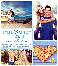 """Favorite Four"" Collage Save the Date Card"