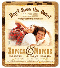 """Hay"" Save the Date Magnet"