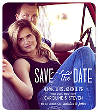 """Date Collage"" Save the Date Card"
