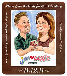 Caricature Save the Date