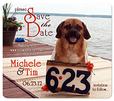 Dog Sign Save the Date