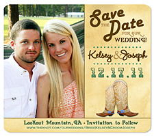 Western Boots Save the Date