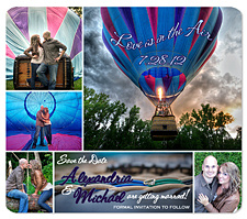 Hot Air Balloon Save the Date