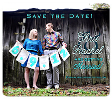 Fabric Sign Banner Save the Date