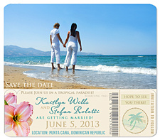 """Boarding Pass"" Save the Date"