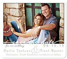 """Forever"" Save the Date Card"