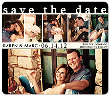 """Snapshots"" Save the Date Card"