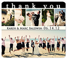 Wedding Thank You Magnet - Snapshots