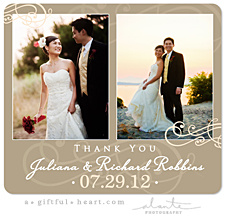 Wedding Thank You Magnet - Circle Date