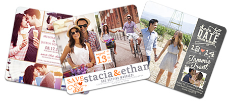 Multiple Photo Collage Save the Date Magnets