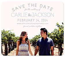 """Color Peek"" Save the Date Card"