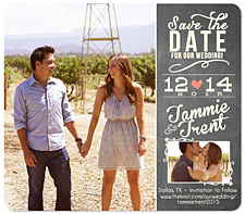 """Can Hardly Wait! Chalk"" Save the Date Card"
