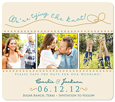 """Tying the Knot!"" Save the Date Card"