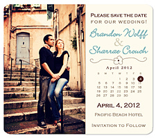 """Wildflower Calendar"" Save the Date Card"