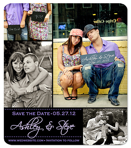 """Photo Collage"" Save the Date Magnet"