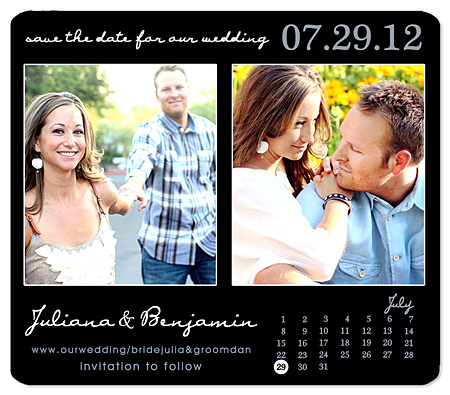 """Simple Calendar"" Save the Date Magnet"