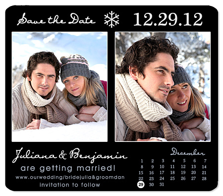 Winter Save the Date Wedding Magnets – Winter Wedding Save the Date Magnets