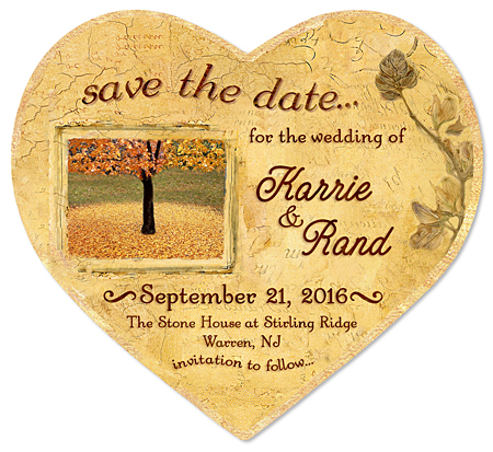 "Save the Date Wedding Magnet - ""Autumn Leaves"""