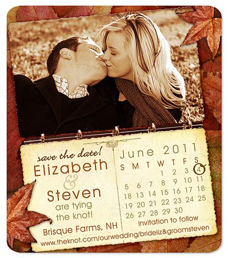 fall in love calendar save the date magnet