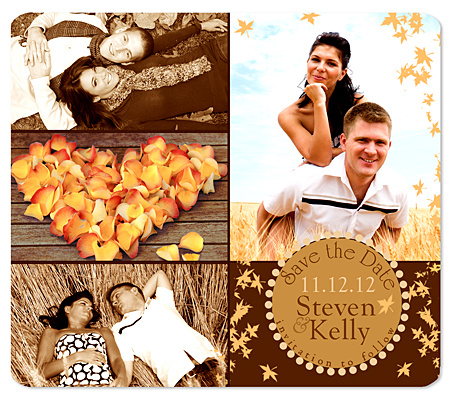 autumn whimsy collage photo save the date magnets new