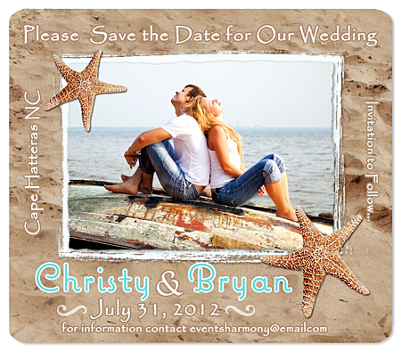 Beach Starfish Save the Date Magnet – Destination Wedding Save the Date Magnets
