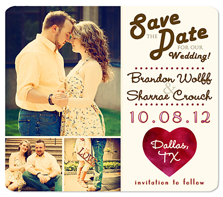 """Charm"" Save the Date Magnet"