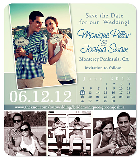 """Urban Calendar Collage"" Save the Date Magnet"