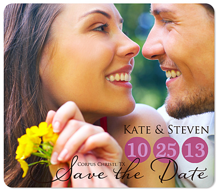 """Circled Date"" Save the Date Magnet"