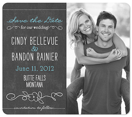 Rustic Love Save The Date Magnet