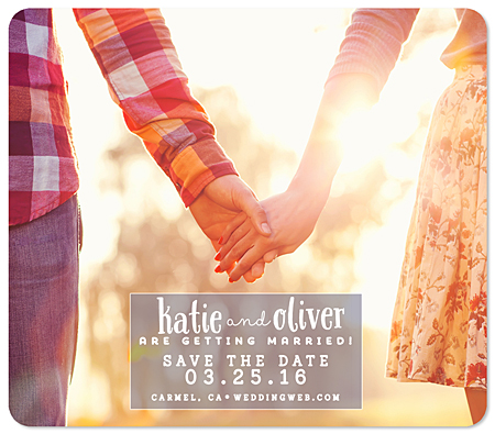 """Sweetly Sealed"" Save the Date Card"
