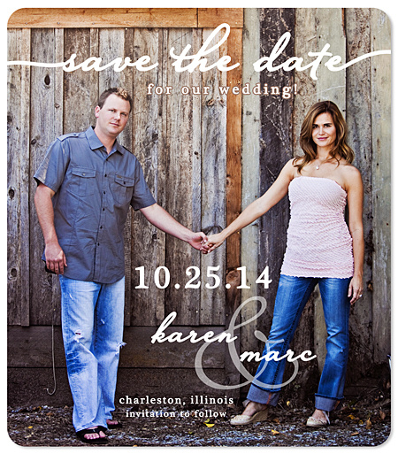 """Custom Photo - Chic Date"" Save the Date Magnet"