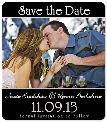 """Horizontal Photo"" Save the Date Magnet"