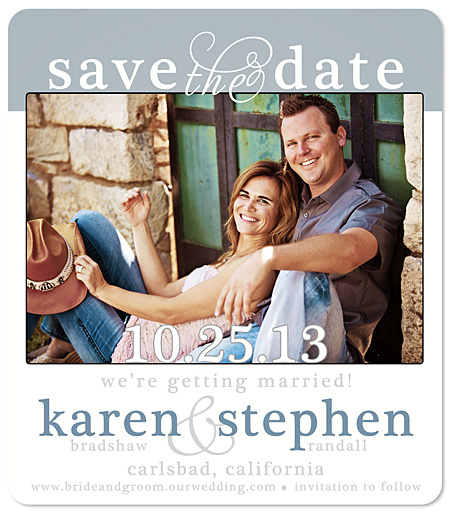 """Front & Center"" Save the Date Magnet"