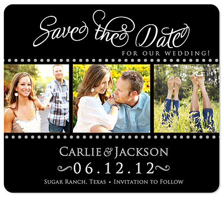"""Fancy Script"" Save the Date Magnet"