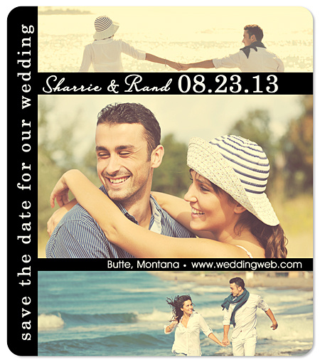 """Favorite Three"" Save the Date Magnet"