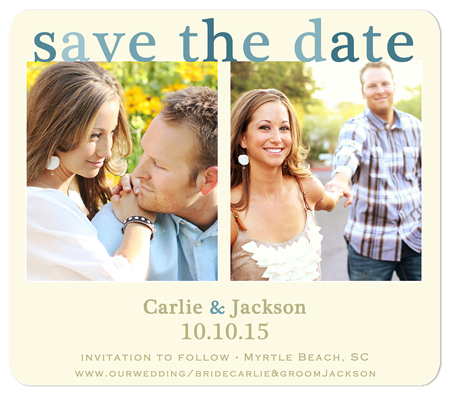 Modern Color save the date magnet
