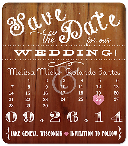 Glow Save The Date Magnet