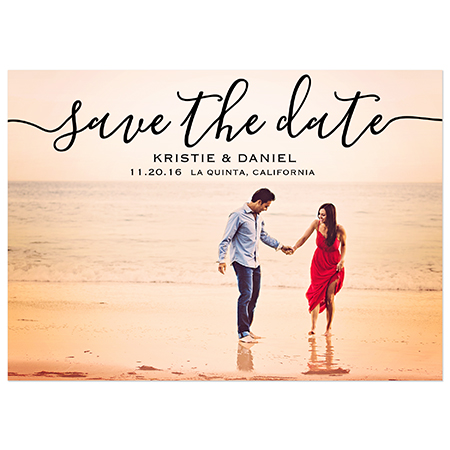"""Custom Photo - Bliss Photo "" Save the Date Magnet"
