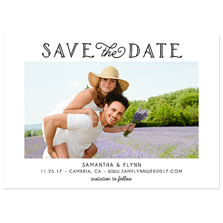 """Classic Photo"" Save the Date Magnet"