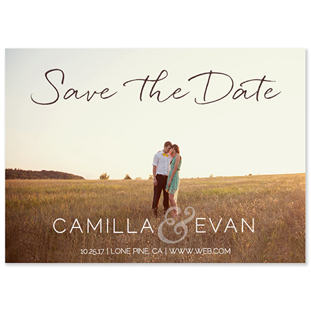 """Whispy Lines"" Save the Date Magnet"