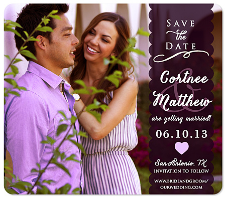"""Softly Swirled"" Save the Date Magnet"
