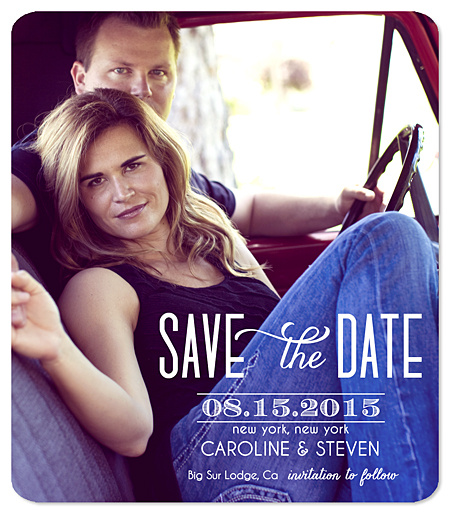 """Well-Paired"" Save the Date Magnet"
