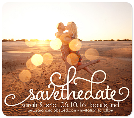 """Swirled Frame"" Save the Date Magnet"